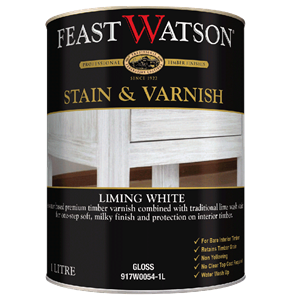Stain Varnish Liming White Gloss 1L