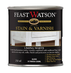 Stain Varnish Liming White Gloss 250Ml